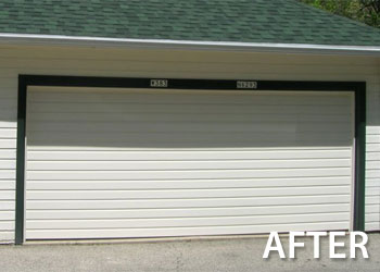 Before after geis garage doors milwaukee southeastern the home owners goal was to have the garage door blend in with the house siding solutioingenieria Image collections