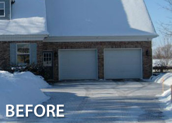 Before after geis garage doors milwaukee southeastern see for yourself how our pre stained custom wood doors bring out the natural colors of the brick to enhance the beauty of this home solutioingenieria Images