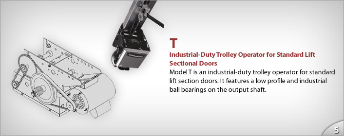 Commercial Industrial Openers Trolley Door from GEIS in Milwaukee