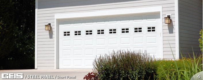 Stamped Steel Wide Panel Garage Door from GEIS in Milwaukee