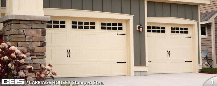 Stamped Steel Carriage House Geis Garage Doors Milwaukee