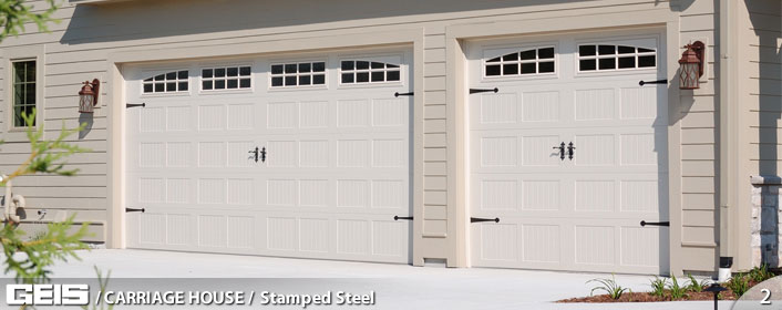Stamped Steel Carriage House Geis Garage Doors