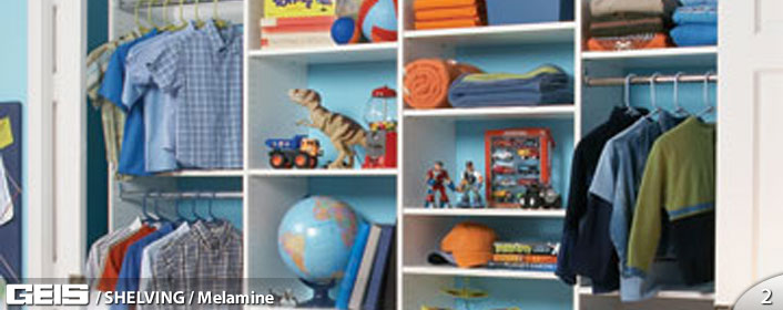 Melamine Shelving from GEIS in Milwaukeee